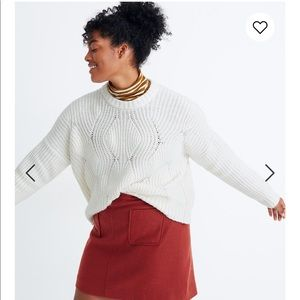 NWT Madewell Everett Pullover Chunky Knit Sweater